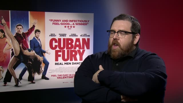 interview nick frost talks about being the romantic lead in a valentine's day romcom at 'cuban fury' interviews at on february 6 2014 in london... - commedia romantica video stock e b–roll