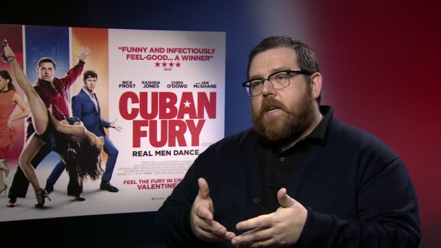 INTERVIEW Nick Frost talks about his upcoming plans to work with Simon Pegg again at 'Cuban Fury' Interviews at on February 6 2014 in London England