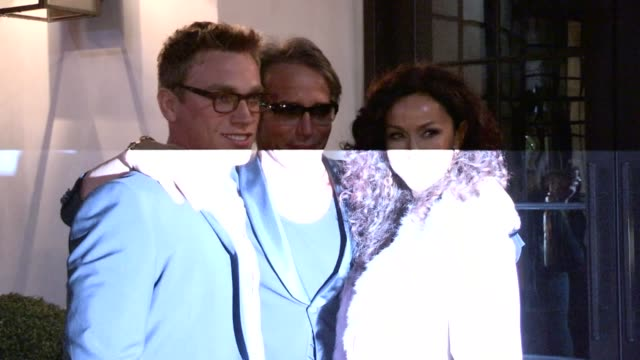 Nick Gruber Lloyd Klein Sofia Milos at Spago in Beverly Hills 02/19/13