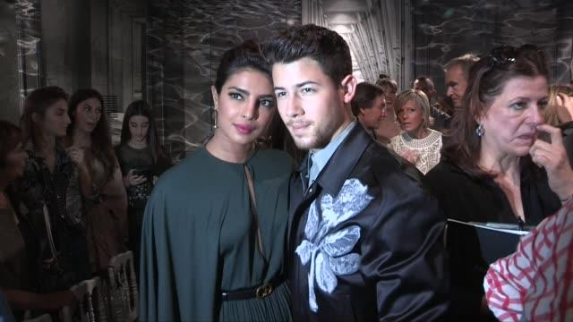 Nick Jonas and Priyanka Chopra at Dior Fall Winter 2020 Haute Couture Fashion Show in Paris Paris France on Monday July 1 2019