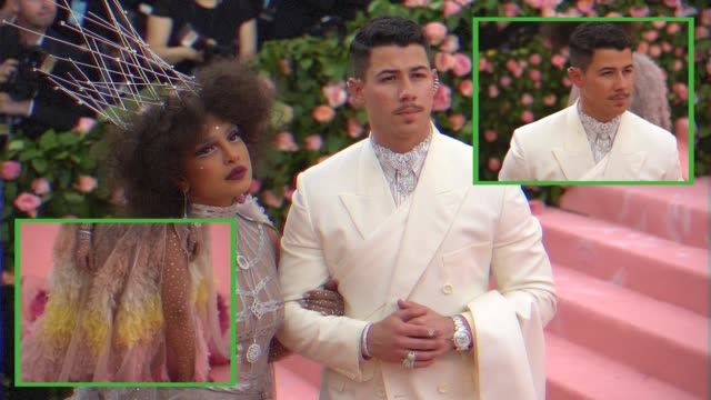 FIRST Nick Jonas and Priyanka Chopra at The 2019 Met Gala Celebrating Camp Notes on Fashion Graphic Social at Metropolitan Museum of Art on May 6...