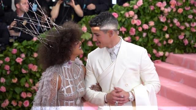 Nick Jonas and Priyanka Chopra at The 2019 Met Gala Celebrating Camp Notes on Fashion Arrivals at Metropolitan Museum of Art on May 06 2019 in New...