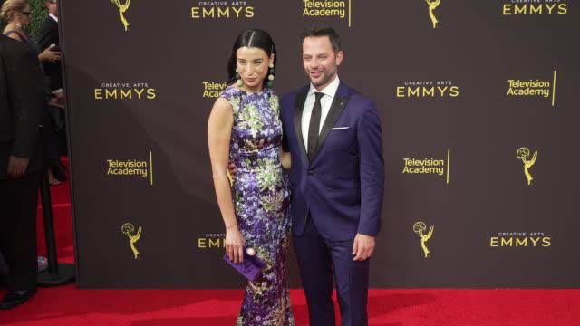 nick kroll and lily kwong at the 2019 creative arts emmy awards - day 1 at microsoft theater on september 14, 2019 in los angeles, california. - day lily stock videos & royalty-free footage