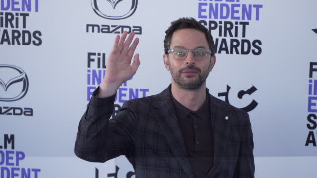 nick kroll at the 2020 film independent spirit awards on february 08 2020 in santa monica california - film independent spirit awards stock videos & royalty-free footage