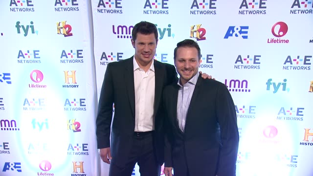 nick lachey and drew lachey at 2014 ae networks upfront arrivals at park avenue armory on may 08 2014 in new york city - waffenlager stock-videos und b-roll-filmmaterial