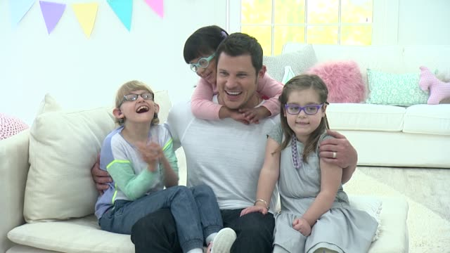 nick lachey and guests at nick lachey photo shoot for toys 'r' us toy guide for differentlyabled kids on april 22 2015 in union city new jersey - nick lachey stock videos & royalty-free footage
