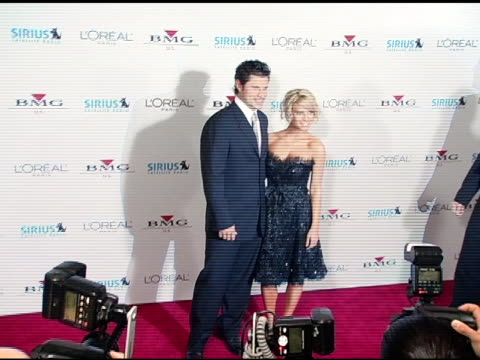 nick lachey and jessica simpson at the clive davis' 2005 pregrammy awards party arrivals at the beverly hilton in beverly hills california on... - nick lachey stock videos & royalty-free footage