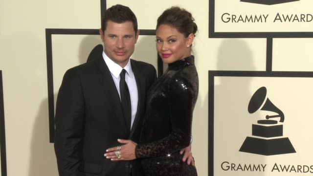nick lachey and vanessa lachey at 58th annual grammy awards® arrivals at staples center on february 15 2016 in los angeles california - nick lachey stock videos & royalty-free footage