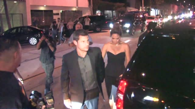 nick lachey and vanessa lachey at the 2015 entertainment weekly preemmy party at fig and olive in west hollywood at celebrity sightings in los... - nick lachey stock videos & royalty-free footage