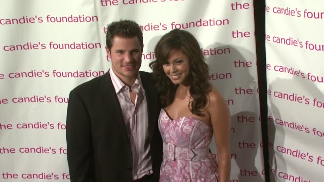nick lachey and vanessa minnillo at the 4th annual ' event to prevent' benefit presented by the candie's foundation at cipriani in new york new york... - nick lachey stock videos & royalty-free footage