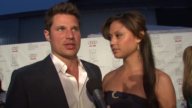 nick lachey and vanessa minnillo on attending tonight's event on if they're collectors of antiques and if so if they'll be doing any shopping on the... - nick lachey stock videos & royalty-free footage