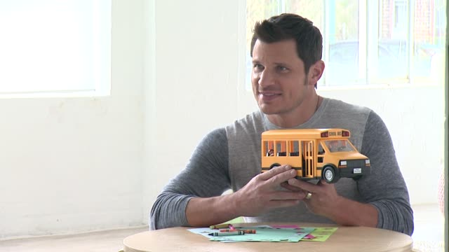 nick lachey at nick lachey photo shoot for toys 'r' us toy guide for differentlyabled kids on april 22 2015 in union city new jersey - nick lachey stock videos & royalty-free footage