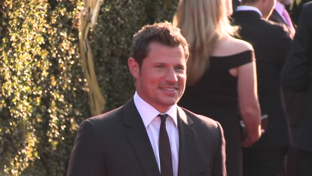nick lachey at the 2018 daytime creative arts emmy awards at pasadena civic auditorium on april 27 2018 in pasadena california - nick lachey stock videos & royalty-free footage
