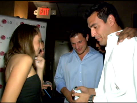nick lachey at the lg at stuff style awards at the roosevelt hotel in hollywood, california on september 7, 2005. - nick lachey stock videos & royalty-free footage