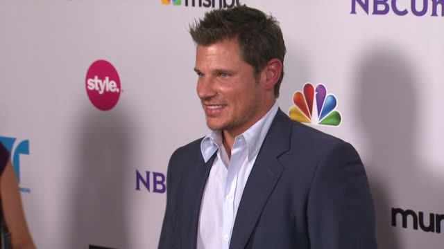 nick lachey at the nbc universal press tour allstar party at los angeles ca - nick lachey stock videos & royalty-free footage