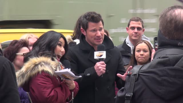 nick lachey in times square on march 30 2015 in new york city - nick lachey stock videos & royalty-free footage