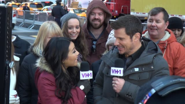 """stockvideo's en b-roll-footage met nick lachey outside the set of """"big morning buzz live"""" show in celebrity sightings in new york, - nick lachey"""