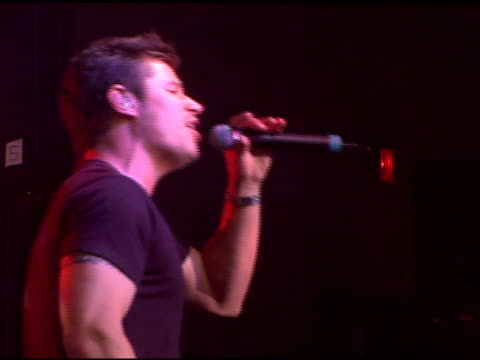 nick lachey performing at the style stage new york city's fashion shopping and music extravaganza with jagged edge and nick lachey day two at... - nick lachey stock videos & royalty-free footage