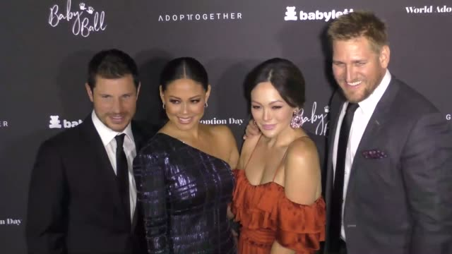 nick lachey vanessa lachey lindsay price curtis stone at the 7th annual baby ball gala on october 22 2017 in los angeles california - nick lachey stock videos & royalty-free footage