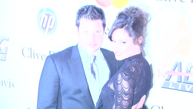 nick lachey vanessa minnillo at the pregrammy gala salute to industry icons with clive davis honoring david geffen at beverly hills ca - nick lachey stock videos & royalty-free footage