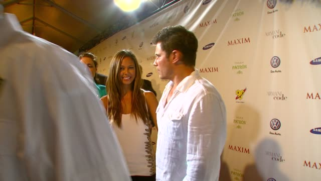 nick lachey vanessa minnillo at the the maxim party at miami beach fl - nick lachey stock videos & royalty-free footage