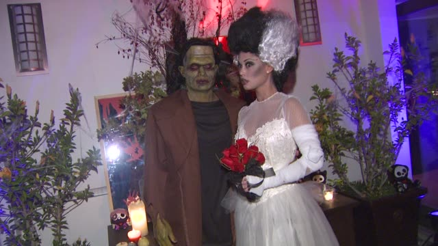 nick lachey vanessa minnillo at the vanessa and nick's halloween party by the party goddess inc at los angeles ca - nick lachey stock videos & royalty-free footage