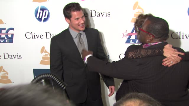 nick lachey vanessa minnillo randy jackson at the pregrammy gala salute to industry icons with clive davis honoring david geffen at beverly hills ca - nick lachey stock videos & royalty-free footage