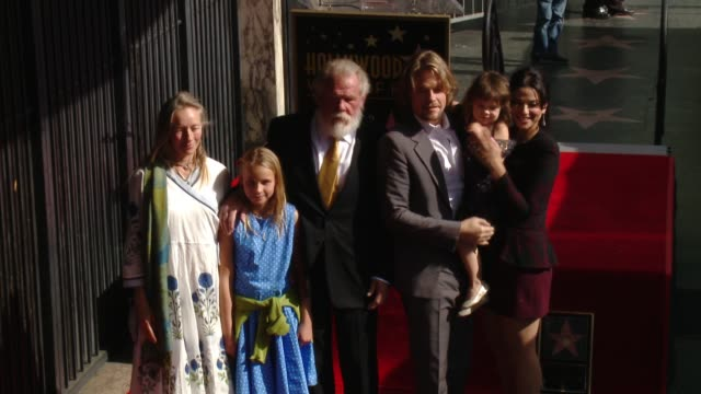 nick nolte and family at nick nolte honored with a star on the hollywood walk of fame on november 20, 2017 in hollywood, california. - nick nolte stock-videos und b-roll-filmmaterial