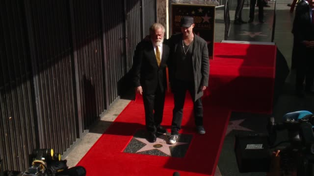 nick nolte and gavin o'connor at nick nolte honored with a star on the hollywood walk of fame on november 20, 2017 in hollywood, california. - nick nolte stock-videos und b-roll-filmmaterial