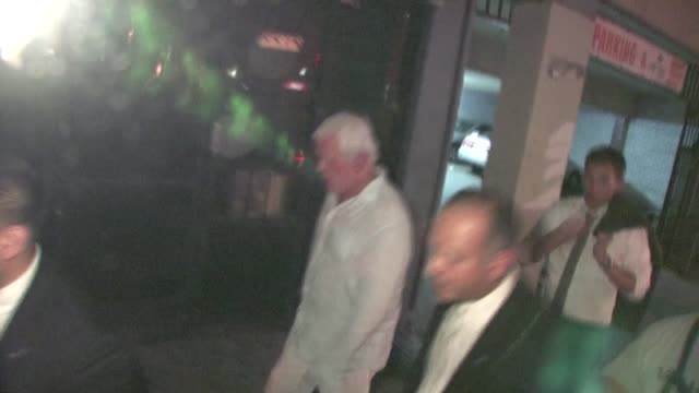 nick nolte arrives at the warrior after party in hollywood - nick nolte stock-videos und b-roll-filmmaterial