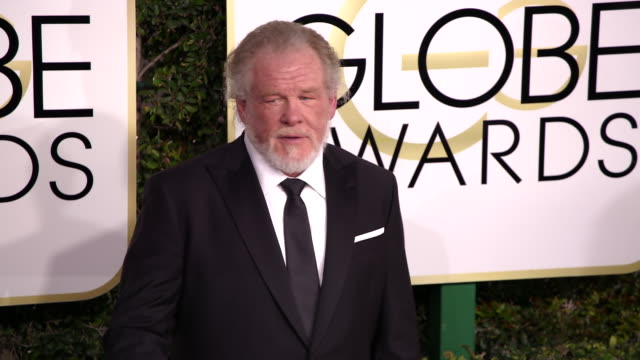 nick nolte at 74th annual golden globe awards - arrivals at 74th annual golden globe awards - arrivals at the beverly hilton hotel on january 08,... - nick nolte stock-videos und b-roll-filmmaterial