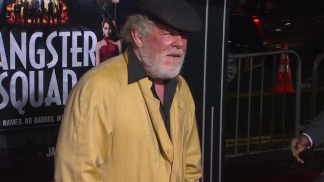 nick nolte at gangster squad los angeles premiereon 1/7/2013 in hollywood, ca. - nick nolte stock-videos und b-roll-filmmaterial