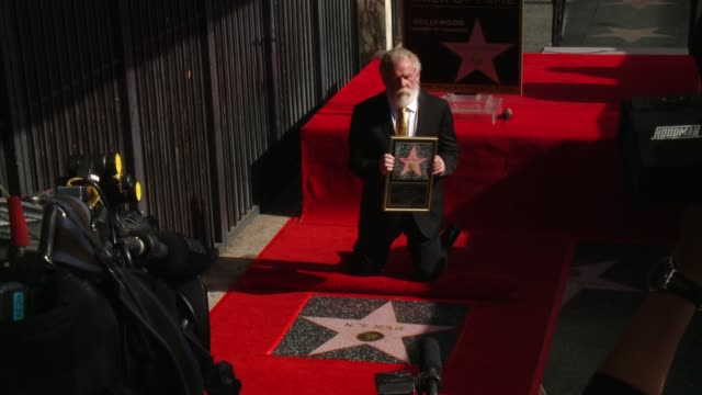 nick nolte at nick nolte honored with a star on the hollywood walk of fame on november 20, 2017 in hollywood, california. - nick nolte stock-videos und b-roll-filmmaterial