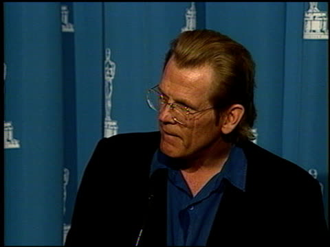 nick nolte at the 1992 academy awards luncheon at the beverly hilton in beverly hills, california on march 17, 1992. - nick nolte stock-videos und b-roll-filmmaterial