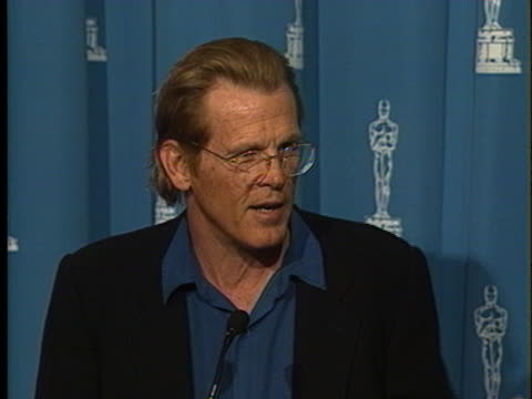 nick nolte at the academy award luncheon 1992 at beverly hilton. - nick nolte stock-videos und b-roll-filmmaterial