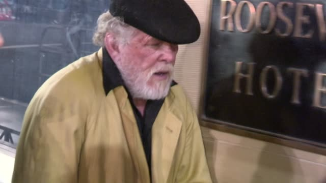 nick nolte at the gangster squad after party in hollywood, 01/07/13 - nick nolte stock-videos und b-roll-filmmaterial