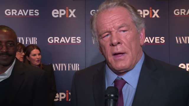 nick nolte describes his role in the series, says the usa presidency is the hardest job in the world at epix graves ny premiere at moma on october... - nick nolte stock-videos und b-roll-filmmaterial