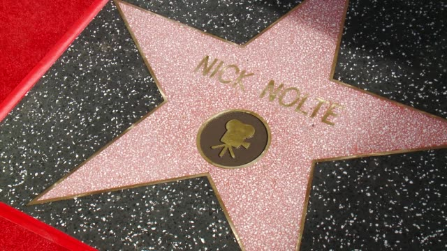 CHYRON Nick Nolte Honored with a Star on the Hollywood Walk of Fame on November 20 2017 in Hollywood California