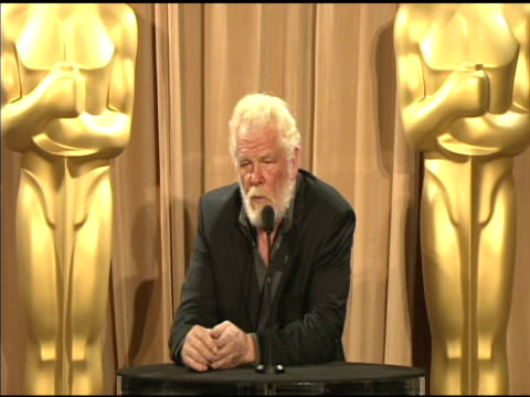 nick nolte on the importance of documentary films at the 84th academy awards nominations luncheon in beverly hills, ca, on 2/6/12 - nick nolte stock-videos und b-roll-filmmaterial