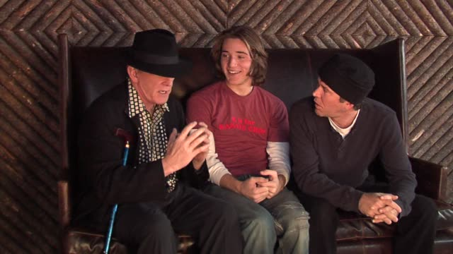 nick nolte, timothy hutton, and trevor morgan at the 2006 sundance film festival hp portrait studio presented by wireimage at wireimage studio in... - nick nolte stock-videos und b-roll-filmmaterial