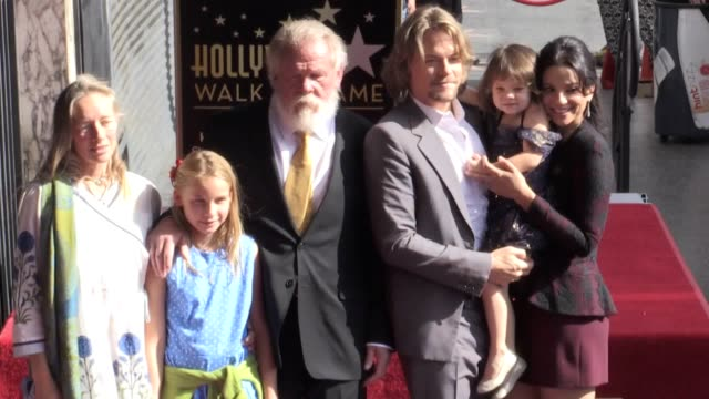 nick nolte was praised as going from a crook to an accidental movie star who netted oscar nominations when he was honoured on the hollywood walk of... - nick nolte stock-videos und b-roll-filmmaterial