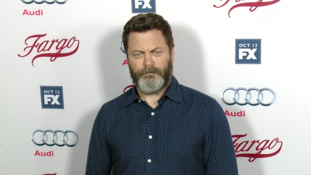 nick offerman at fx's fargo los angeles premiere at arclight cinemas on october 07 2015 in hollywood california - arclight cinemas hollywood stock videos & royalty-free footage