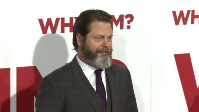 Nick Offerman at the Why Him World Premiere at Regency Bruin Theater on December 17 2016 in Westwood California
