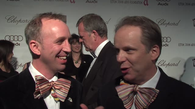 Nick Park and Steve Box on attending the Governor's Ball at the 14th Annual Elton John AIDS Foundation Oscar Party Cohosted by Audi Chopard and VH1...