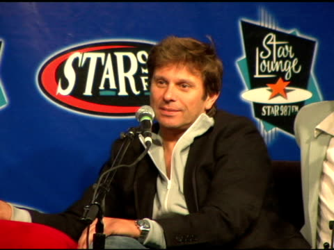 nick rhodes and andy taylor of duran duran at the duran duran debuts of their new single at star 987 fm radio in burbank california on august 19 2004 - nick rhodes stock videos & royalty-free footage
