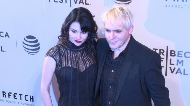 nick rhodes and guest at the first monday in may world premiere 2016 tribeca film festival opening night at john zuccotti theater at bmcc tribeca... - nick rhodes stock videos & royalty-free footage