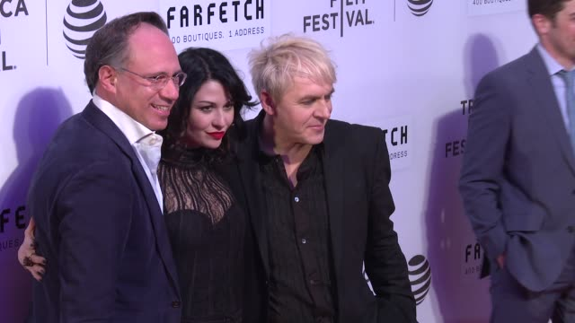 nick rhodes and guests at the first monday in may world premiere 2016 tribeca film festival opening night at john zuccotti theater at bmcc tribeca... - nick rhodes stock videos & royalty-free footage