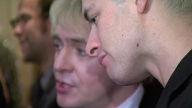 nick rhodes and mark ronson at the q awards at london england - nick rhodes stock videos & royalty-free footage