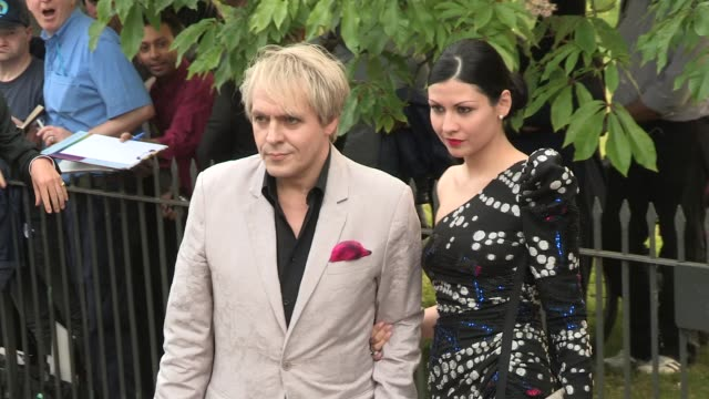 nick rhodes arriving for the summer party at the serpentine gallery on june 26 2013 in london england - the serpentine gallery stock videos & royalty-free footage