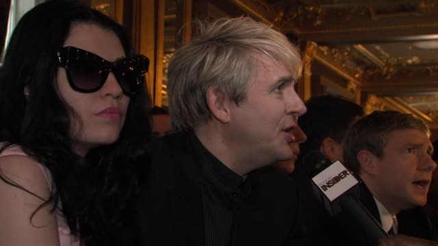 nick rhodes at london collections men aw 2013 jonathan saunders catwalk show at the old selfridges hotel on january 08 2013 in london england - nick rhodes stock videos & royalty-free footage